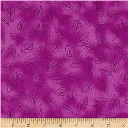 Lola Leaf Toile Red Violet Fabric