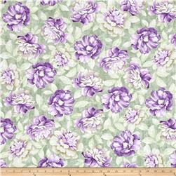 Timeless Treasures Veranda Allover Floral Sage