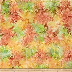 Batavian Batiks Dancing Flowers Yellow/Coral