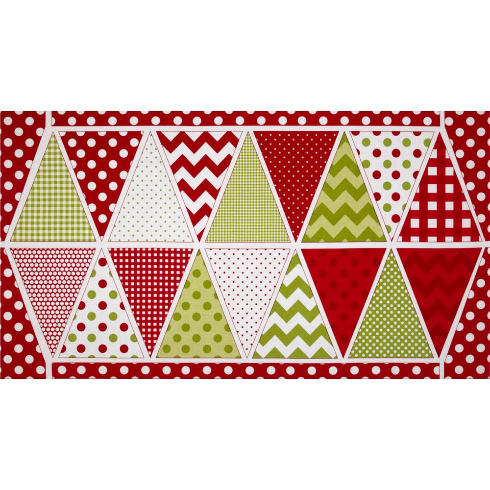 Riley Blake Holiday Banner Panel Christmas Multi
