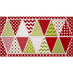 Riley Blake Holiday Banners Panel Christmas Multi