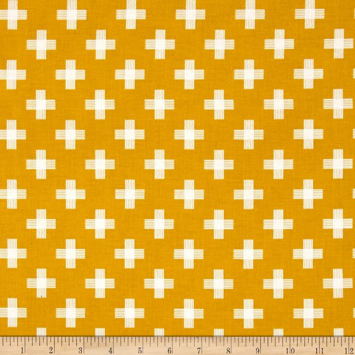 Riley Blake Four Corner Weave Gold
