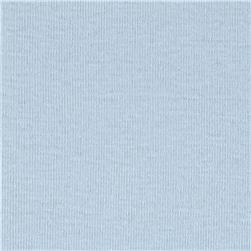 Cotton Baby Rib Knit Solid Baby Blue Fabric