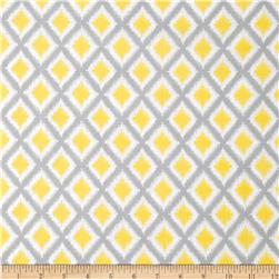 Gray Matters Diamond Ikat Grey/White Fabric