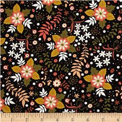 Sly as a Fox Floral Black