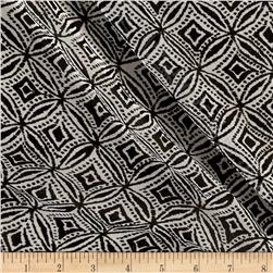 Chiffon Ikat Diamond Shape Black