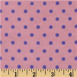 Aunt Polly's Flannel Small Polka Dots Pink/Purple Fabric