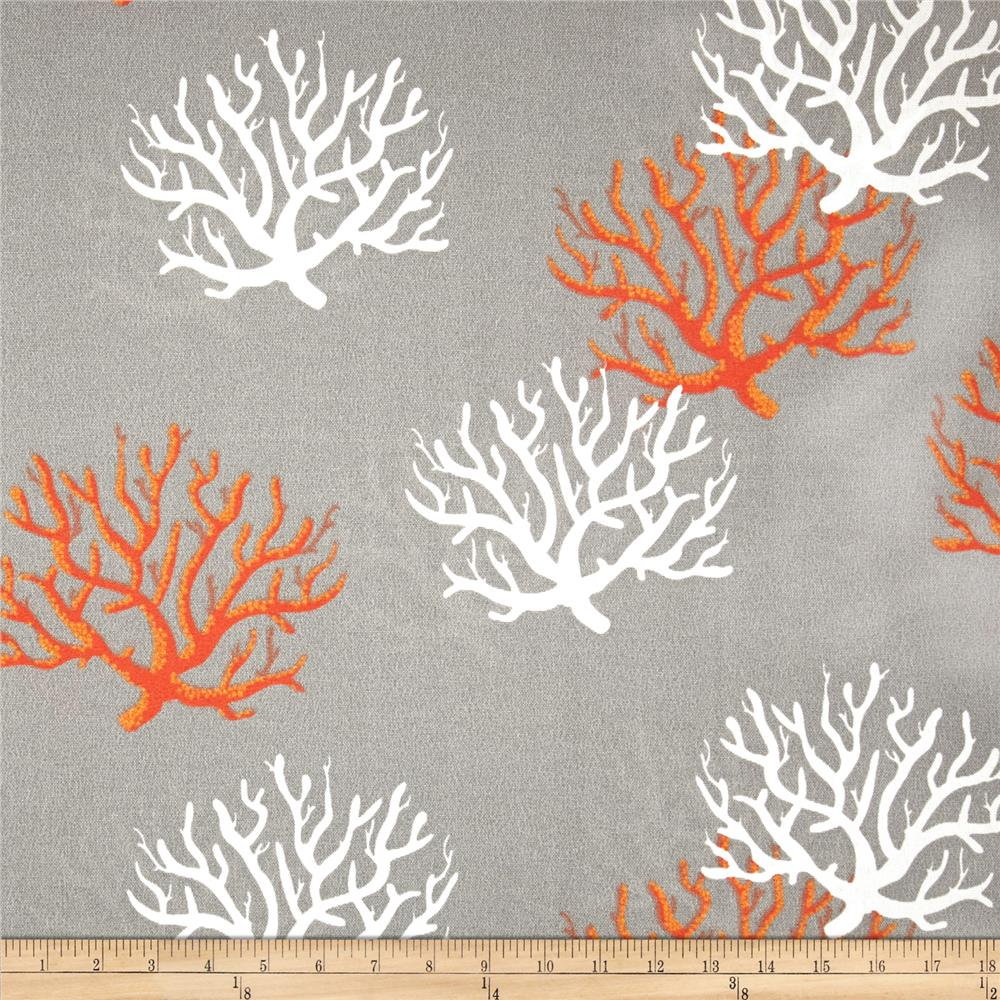 Discount outdoor fabric by the yard - Premier Prints Indoor Outdoor Isadella Coral Citrus Discount Designer Fabric Fabric Com