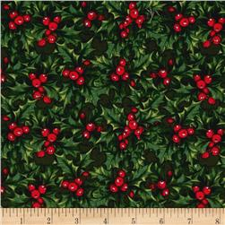Penny Rose Joyous Christmas Holly Green