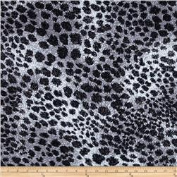 Cotton Lycra Jersey Knit Leopard Black/Grey
