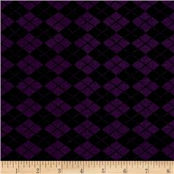 Rihan Jersey Knit Checker Print Grape/Black