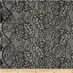 Shadow Lace Black Fabric