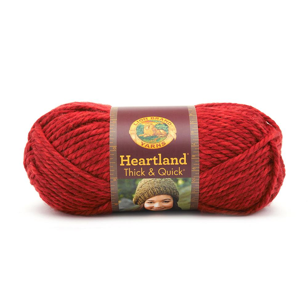 Lion Brand Heartland Thick & Quick Yarn Redwood