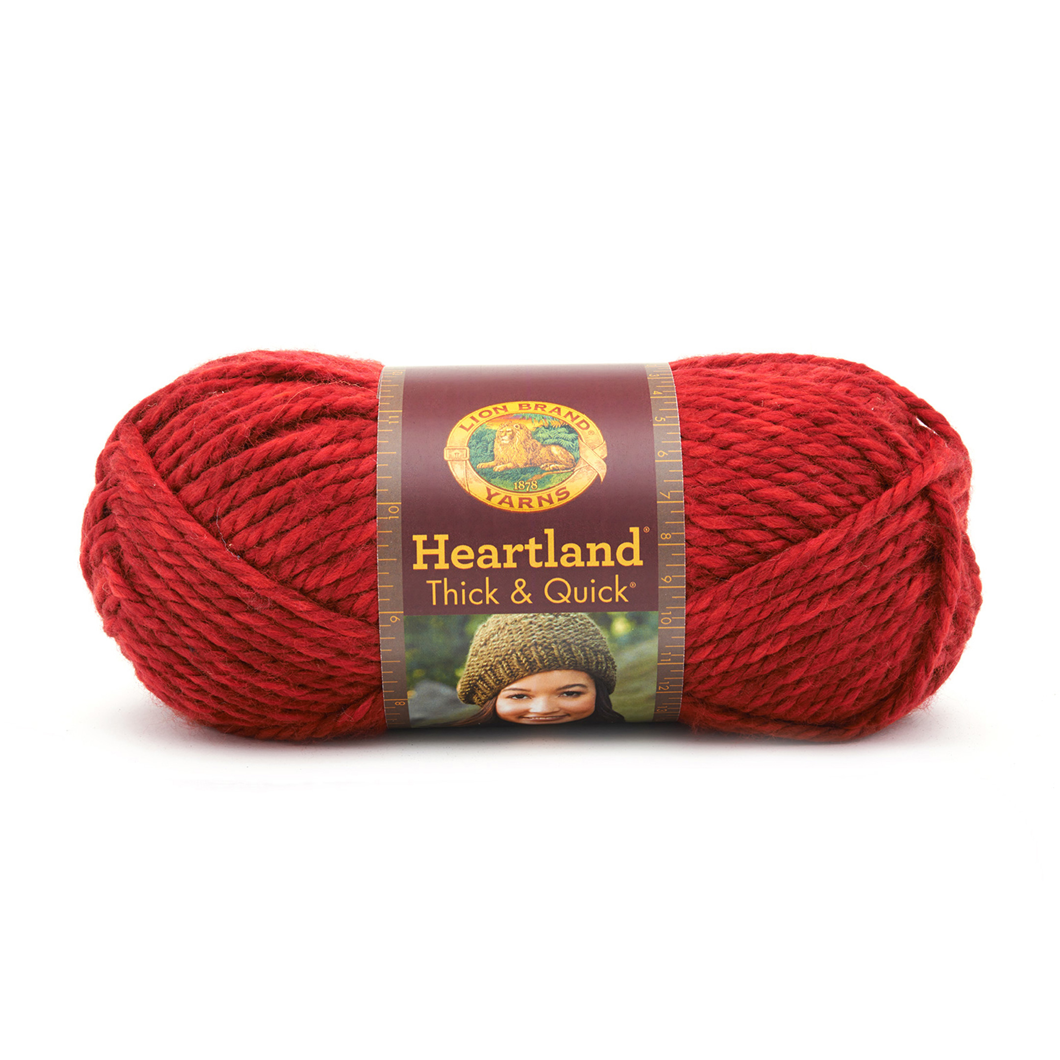 Lion Brand Heartland Thick & Quick Yarn Redwood by Lion in USA