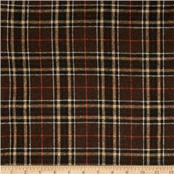 Yarn Dyed Brushed Suiting Plaid Brown/Black
