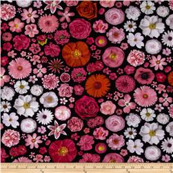 Bloominescent Digital Scattered Floral Blossom Fabric