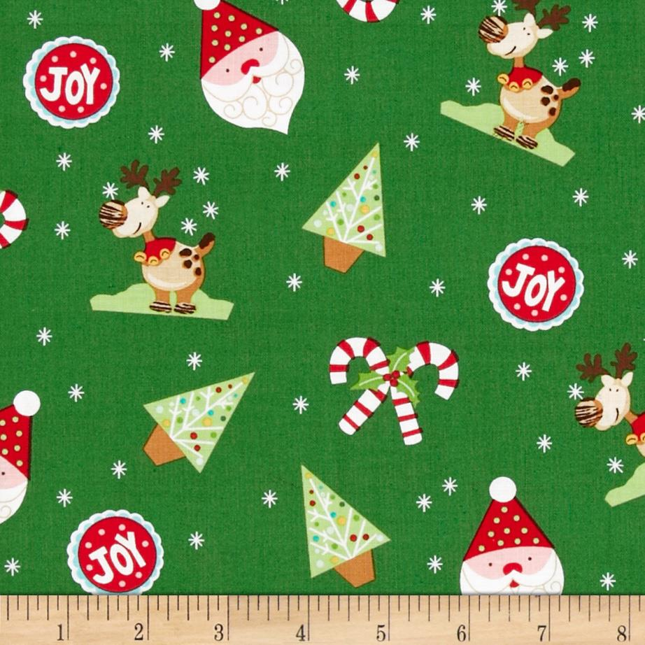 Peppermint Twist Christmas Toss Green