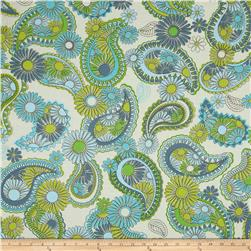 Jenean Morrison Lovelorn Paisley Blue Fabric