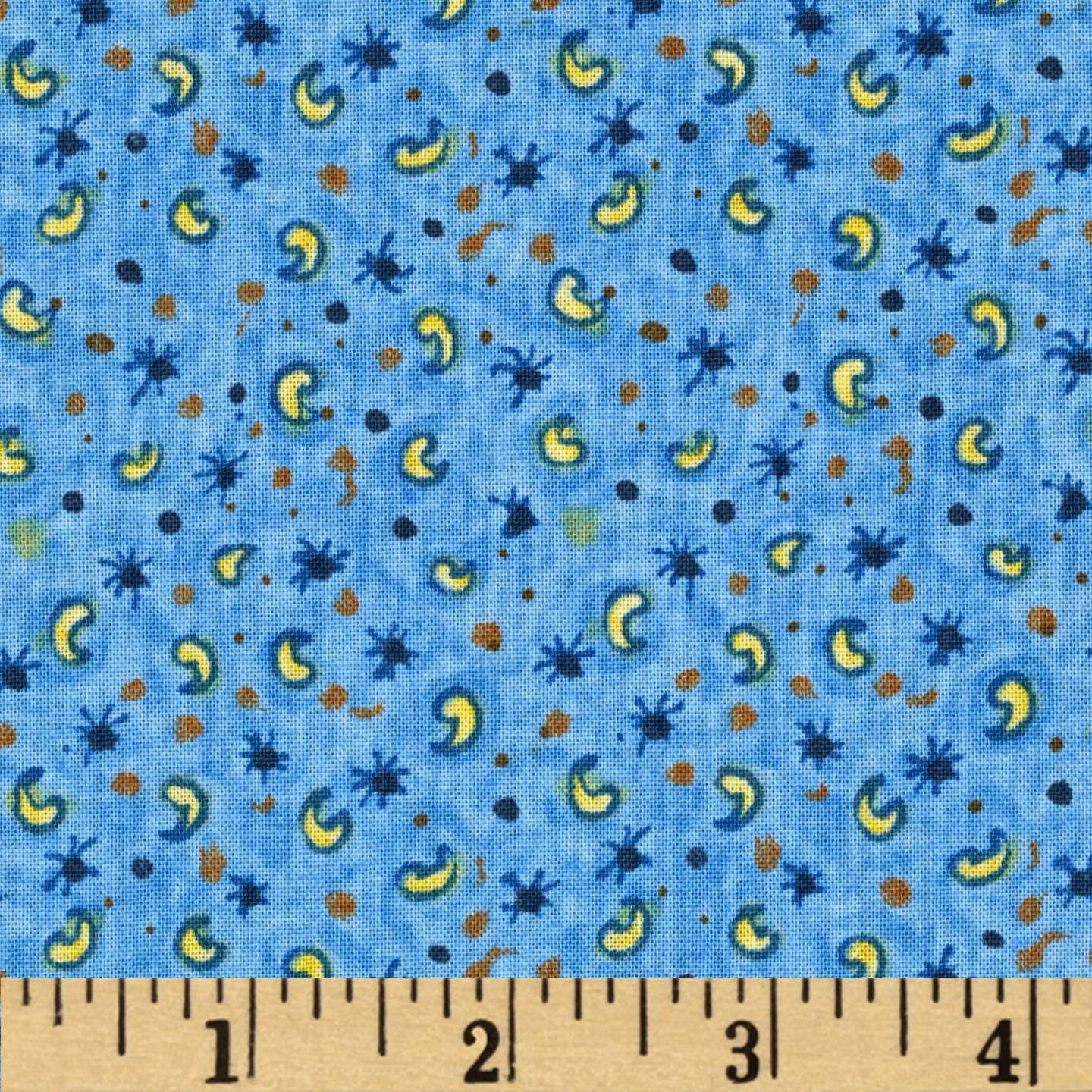 Holly Hobbie Paisley Blue Fabric