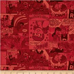 Archie Comics Retro Comic Strip Red