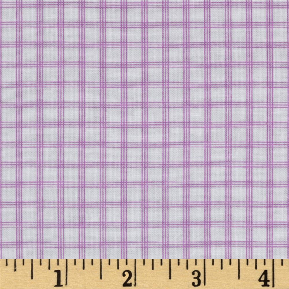Citrus Tattersall Plaid Grape