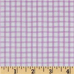 Citrus Tattersall Plaid Grape Fabric