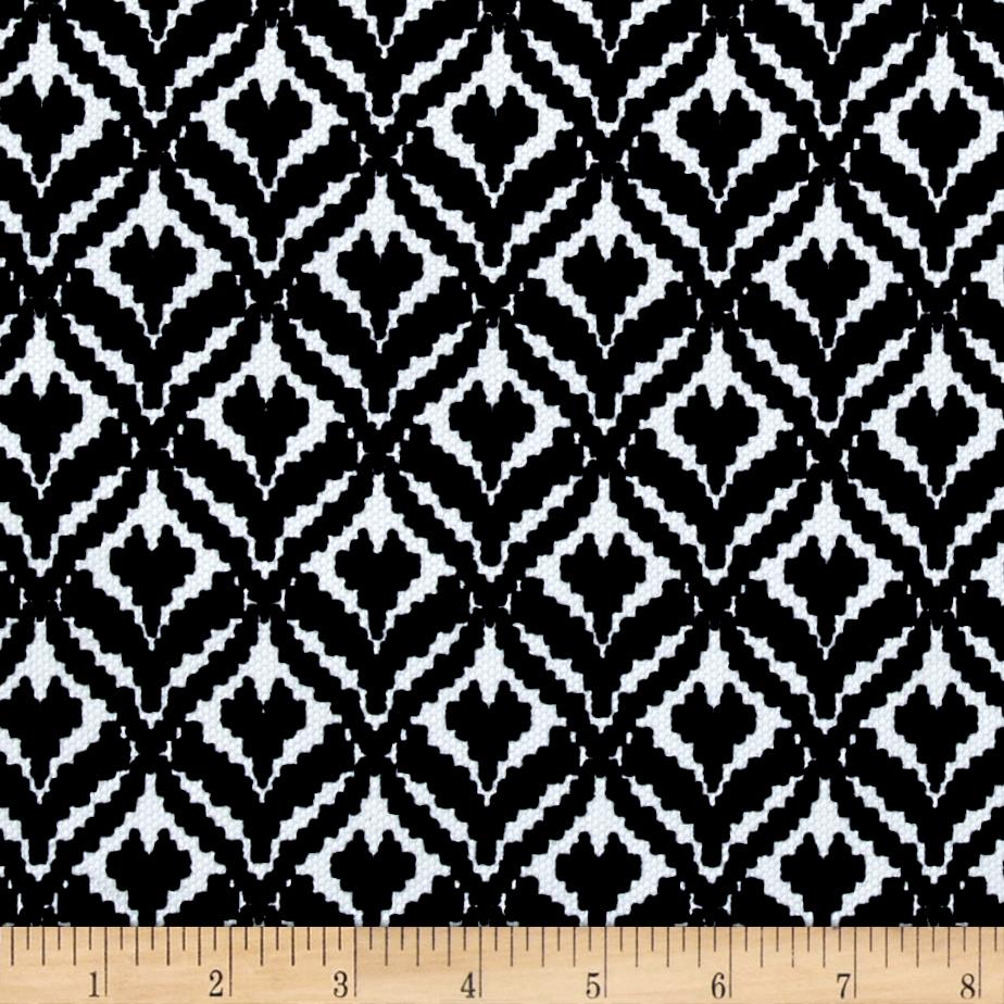 Pique Double Knit Whimsical Diamond Black/White