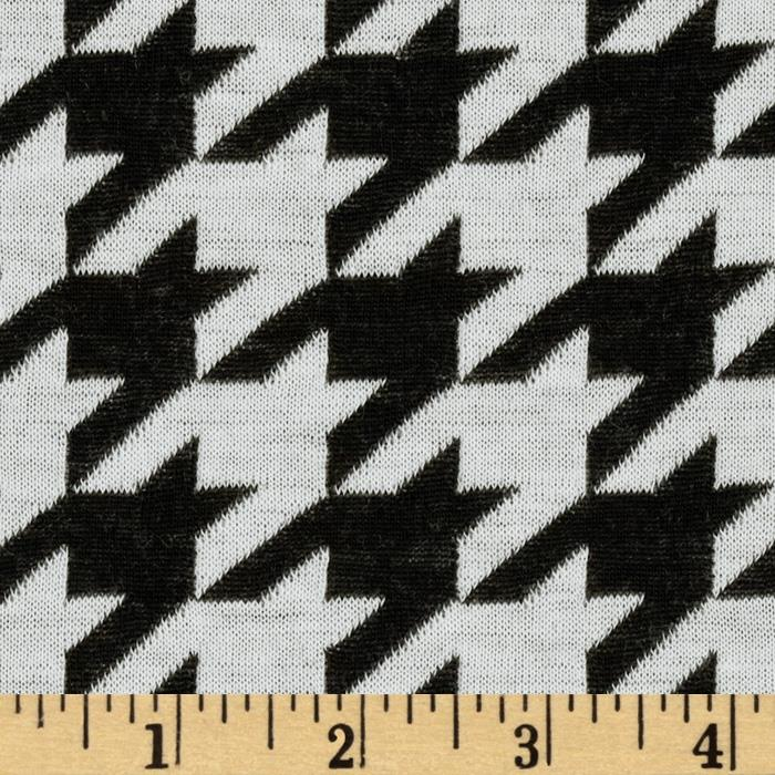 Onyx Jacquard Knit Houndstooth Black/White