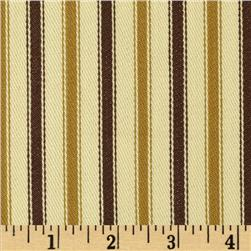 Textile Creations 54'' Yarn Dyed Ticking Stripe Twill Brass