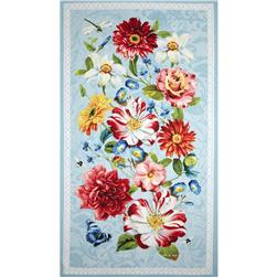 Rainbow Garden Large Panel Multi Fabric