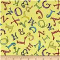 A-B-Seas Tossed Letters Yellow