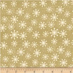 Christmas Tree Glitz Snowflakes Gold