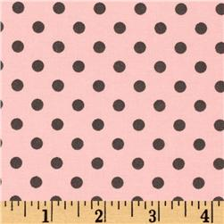 Michael Miller Dumb Dot Blossom Pink/Grey