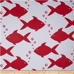 RCA Blackout Drapery Fabric Fish Red