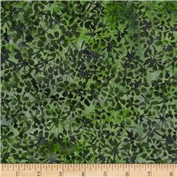Bali Batiks Handpaints Abstract Floral Spinach