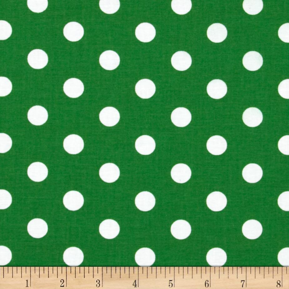 Spot On II Polka Dots Dark Green/White - Discount Designer ...