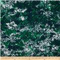 Charmeuse Satin Abstract Navy/Emerald