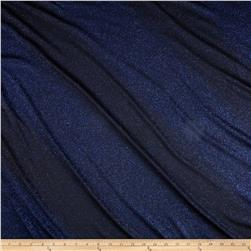 Metallic Glitter Stretch Slinky Knit Black/Royal