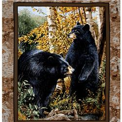 Basic Black Bear Wall 36 In. Panel Multi