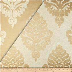 World Wide Rowley Metallic Damask Satin Jacquard Beige