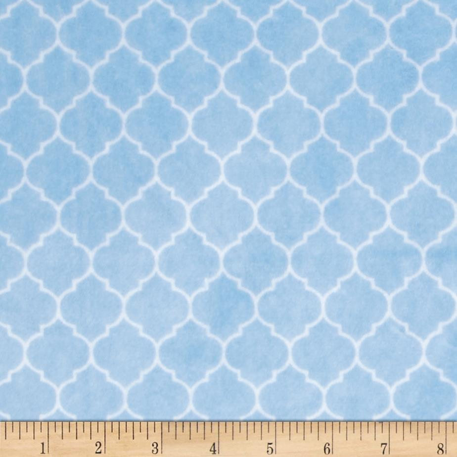 Minky Cuddle Classic Lattice Baby Blue