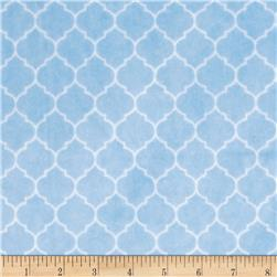 Minky Cuddle Classic Lattice Baby Blue Fabric