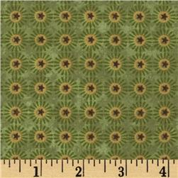 Buggy Barn Flannel Essentials 7 Star Flower Green