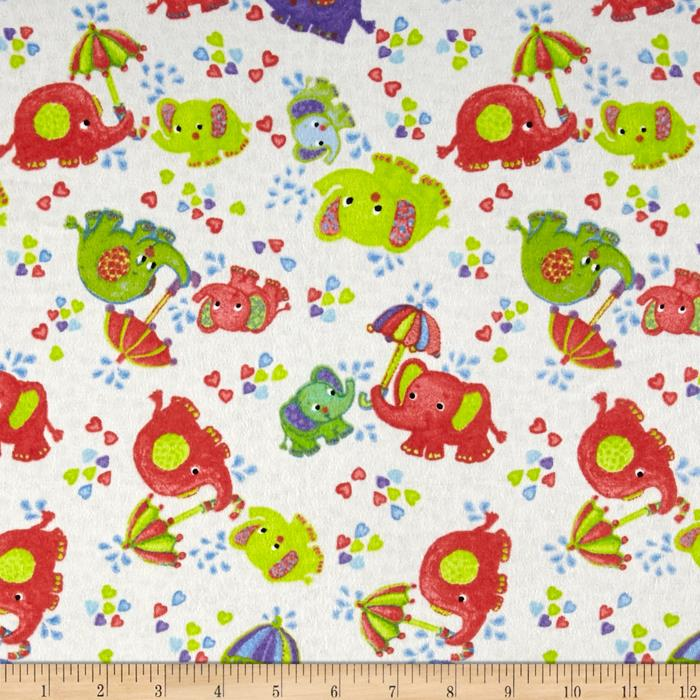 Flannel baby elephants discount designer fabric for Cheap baby fabric