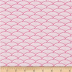 Kanvas Lili-fied Arches White/Pink Fabric