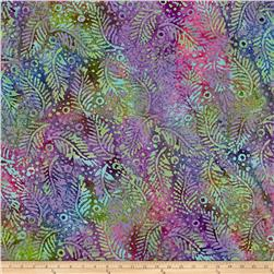 Indian Batik Fern Dots Aqua/Purple/Blue