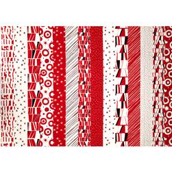 Montage Stripe Red/White Fabric