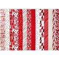 Montage Stripe Red/White