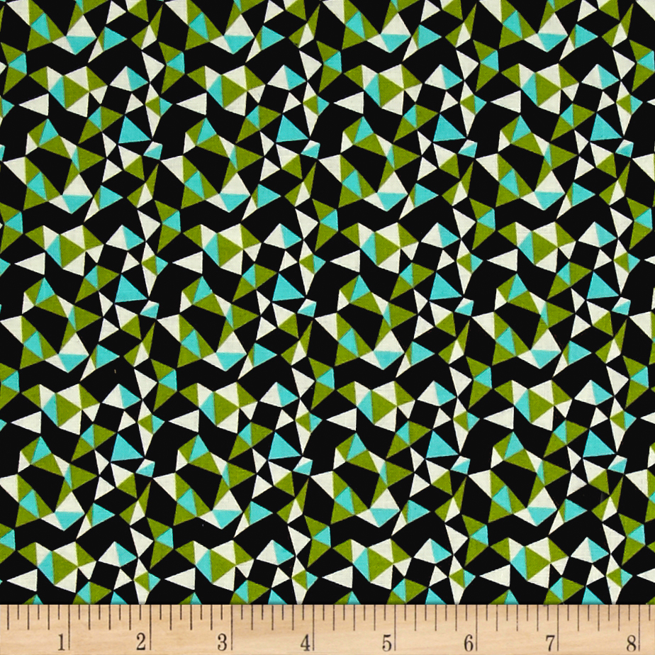 INOpets.com Anything for Pets Parents & Their Pets Michael Miller Wildflower Garden Garden Walk Mosiac Aqua Fabric