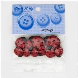 Dress It Up Embellisment Buttons  Ladybugs
